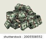 cash money colorful vintage... | Shutterstock .eps vector #2005508552