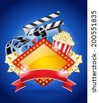 stereo film flyer design with... | Shutterstock .eps vector #200551835