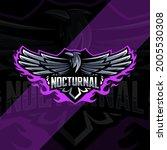 Nocturnal Owl Bird Mascot Logo...