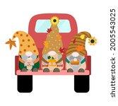 cartoon harvest fall vector... | Shutterstock .eps vector #2005543025