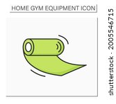 yoga mat color icon. rolled...   Shutterstock .eps vector #2005546715