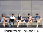 college students internet... | Shutterstock . vector #200555816