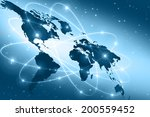 best internet concept of global ... | Shutterstock . vector #200559452
