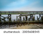 Weathered Ruined Wooden Dock At ...