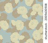 seamless vector floral... | Shutterstock .eps vector #2005630508