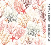 marine seamless pattern with... | Shutterstock . vector #2005671152