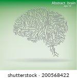 circuit board brain eps 10 ... | Shutterstock .eps vector #200568422