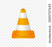 traffic cone isolated vector...   Shutterstock .eps vector #2005707635