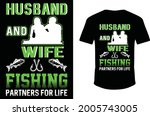 husband and wife fishing... | Shutterstock .eps vector #2005743005