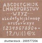 doodle sketch font in brown... | Shutterstock .eps vector #200577206