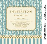 invitation with a rich... | Shutterstock .eps vector #200578652