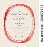 wedding invitation with... | Shutterstock .eps vector #200578976