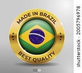 made in brazil label  logo ... | Shutterstock .eps vector #2005796978