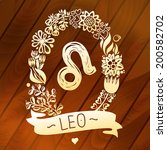 zodiac sign leo  in a sweet... | Shutterstock .eps vector #200582702