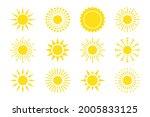 flat sun icon. sun pictogram....   Shutterstock .eps vector #2005833125