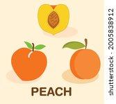fresh peach. logo. japanese...   Shutterstock .eps vector #2005838912