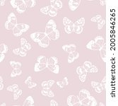 butterfly seamless repeat... | Shutterstock .eps vector #2005846265