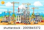 construction site banner. truck ...   Shutterstock .eps vector #2005865372