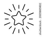 star icon. linear star with... | Shutterstock .eps vector #2005885802
