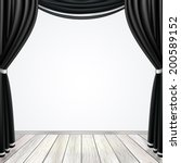 empty stage with black curtains ... | Shutterstock .eps vector #200589152