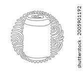 single one line drawing cola...   Shutterstock .eps vector #2005901192