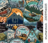 summer camping colorful... | Shutterstock .eps vector #2005956035