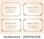 a frame set with a plant motif. ... | Shutterstock .eps vector #2005962038