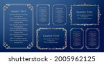 a frame set with a plant motif. ... | Shutterstock .eps vector #2005962125