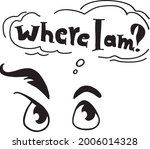 where i am    the inscription... | Shutterstock .eps vector #2006014328
