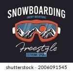snowboarding t shirt design...   Shutterstock .eps vector #2006091545