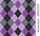 Argyle Design In Purple And...