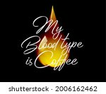 coffee quote with calligraphy... | Shutterstock .eps vector #2006162462