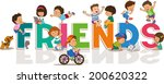 cartoon happy friendship day... | Shutterstock .eps vector #200620322
