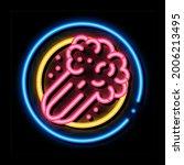 vegetarian meal neon light sign ...   Shutterstock .eps vector #2006213495