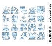 solar energy technicians sketch ...   Shutterstock .eps vector #2006216282