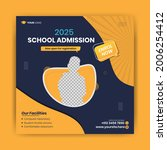 school admission editable...   Shutterstock .eps vector #2006254412