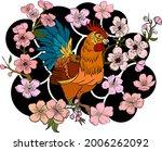 rooster illustration for...   Shutterstock .eps vector #2006262092