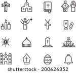catholic religion icons | Shutterstock .eps vector #200626352