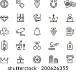 casino icons | Shutterstock .eps vector #200626355