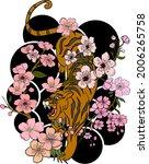 japanese tiger illustration for ...   Shutterstock .eps vector #2006265758