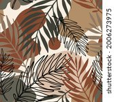 abstract tropical foliage... | Shutterstock .eps vector #2006273975