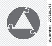 simple icon puzzles in gray....