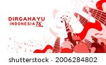 indonesia independence day 17... | Shutterstock .eps vector #2006284802