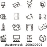 cinema icons | Shutterstock .eps vector #200630306