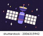 artificial earth satellite with ... | Shutterstock .eps vector #2006315942