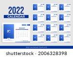 landscape calendar 2022 with... | Shutterstock .eps vector #2006328398