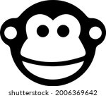 monkey vector icon. chinese... | Shutterstock .eps vector #2006369642