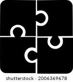 puzzle vector icon eps 10.... | Shutterstock .eps vector #2006369678
