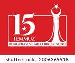 holiday of turkey. 15 temmuz.... | Shutterstock .eps vector #2006369918