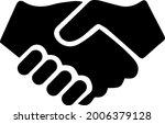 partnership vector. handshake... | Shutterstock .eps vector #2006379128